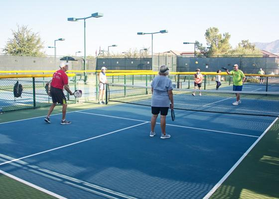 Pickleball - eight courts