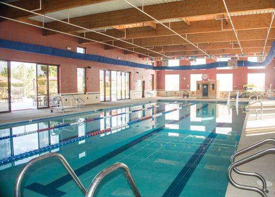 Indoor lap and exercise pool